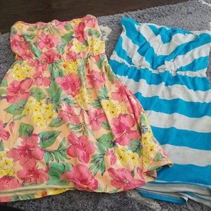 Set of bathing suit coverups
